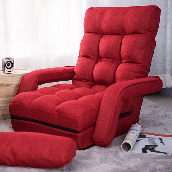 Merax Folding Lazy Sofa Floor Chair Sofa Lounger Bed
