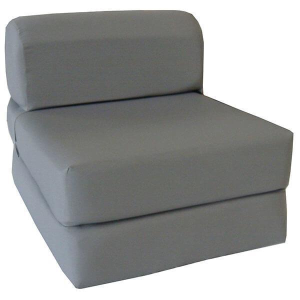 Gray Sleeper Chair Folding Foam Bed
