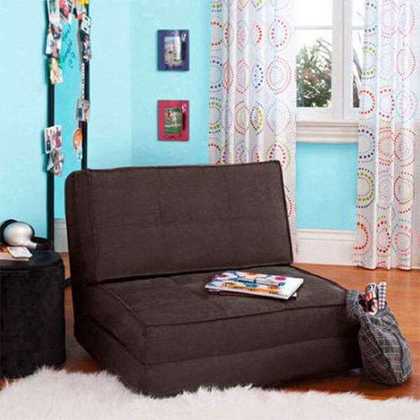 Flip Chair Convertible Sleeper Dorm Bed Couch Lounger