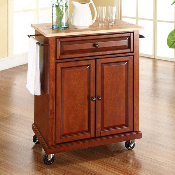 Crosley Furniture Classic Cherry Kitchen Cart
