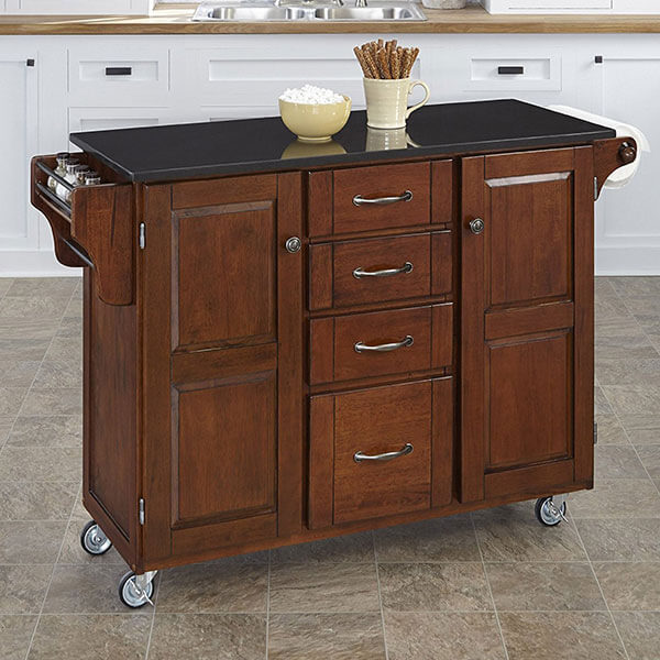 Home Styles Kitchen Cart, Cherry