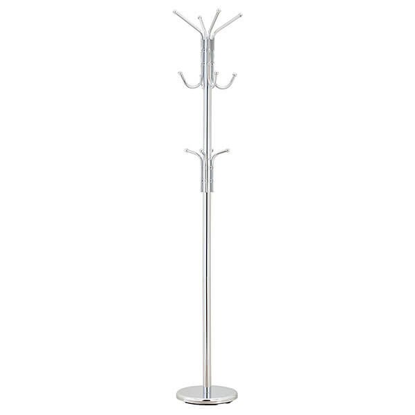 MyGift Freestanding Coat Rack, Chrome-Plated