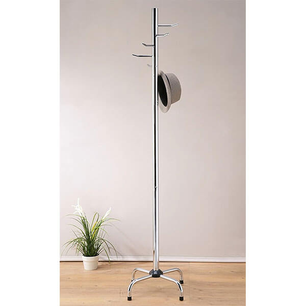 Legacy Decor Standing Coat Rack, Chrome Finish