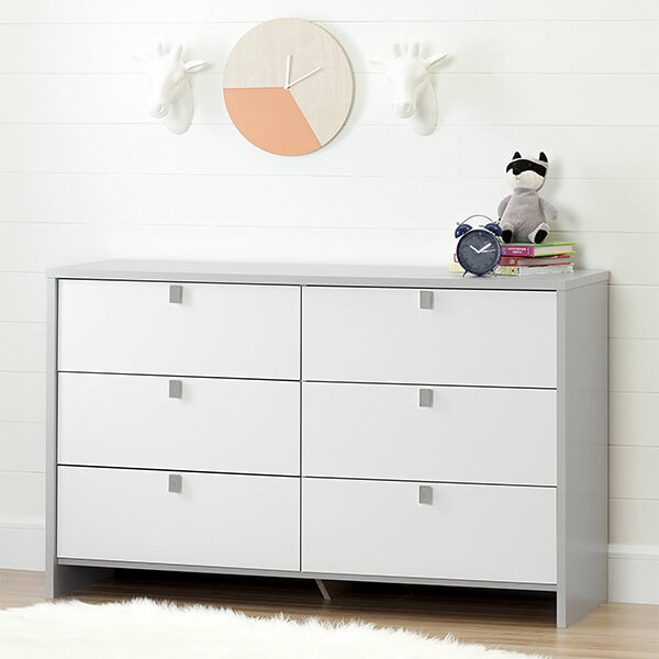 South Shore Cookie 6-Drawer Double Dresser
