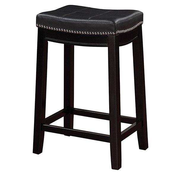 Linon Claridge Counter Stool, Black
