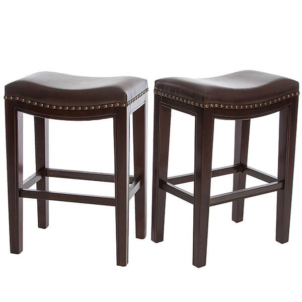 Jaeden Beige Backless Counter Stools