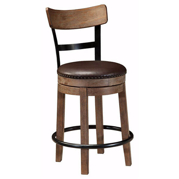 Ashley Furniture Signature Design Pinnadel Swivel Counter Stool