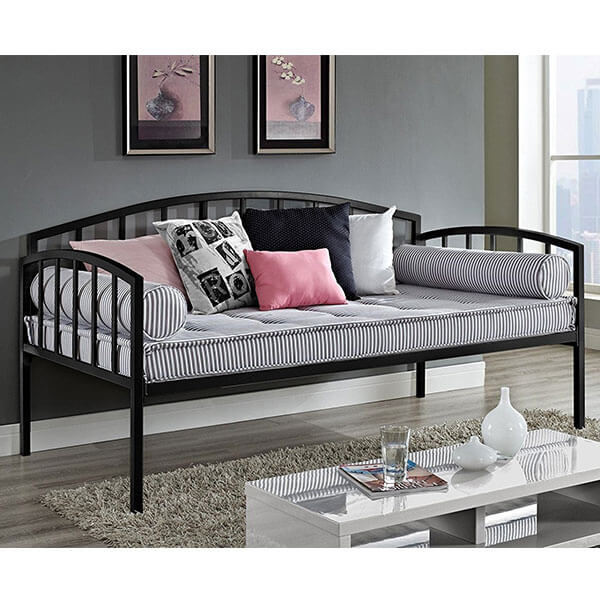 DHP Ava Metal Daybed, Twin, Black