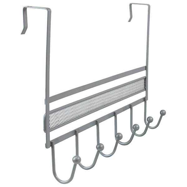 DecoBros Over The Door 6 Hook Organizer Rack
