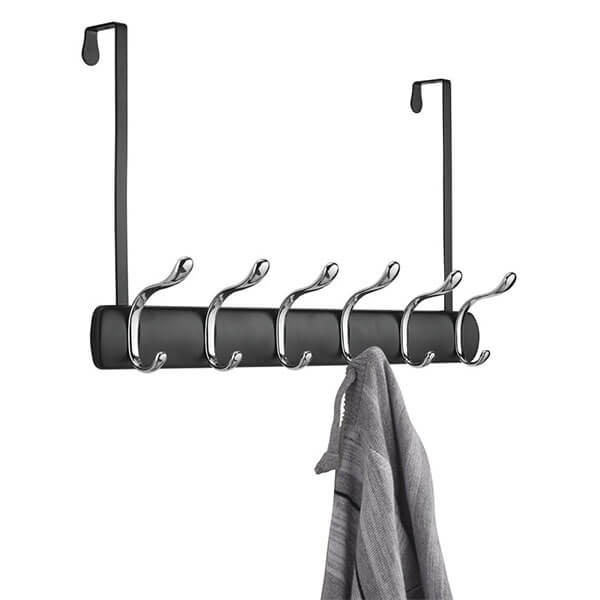 mDesign Over the Door 12-Hook Coat Rack