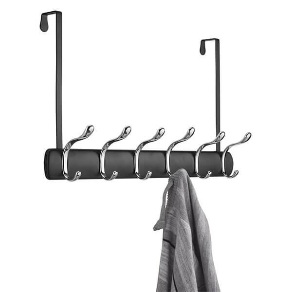 mDesign Over the Door 12-Hook Coat Rack