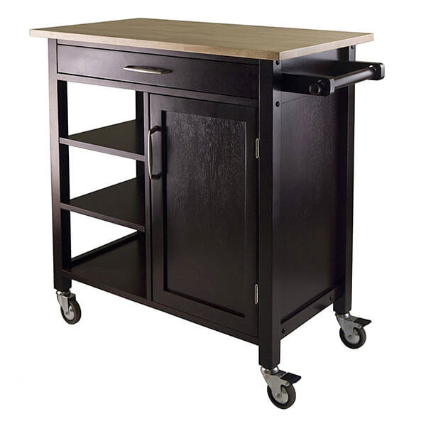Winsome Mali Kitchen Cart, Espresso
