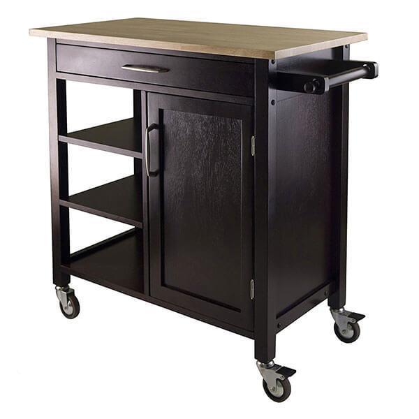 Winsome Mali Kitchen Cart, Espresso