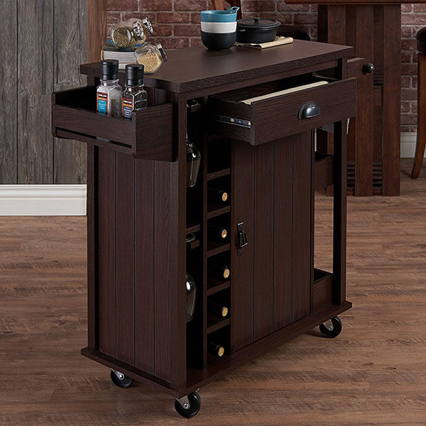 ioHOMES Casti Kitchen Cart, Espresso