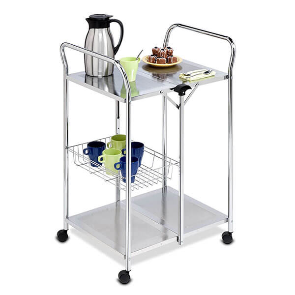 Honey-Can-Do Chrome Folding Kitchen Cart