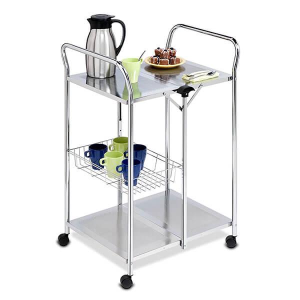 Honey-Can-Do Chrome Folding Kitchen Cart