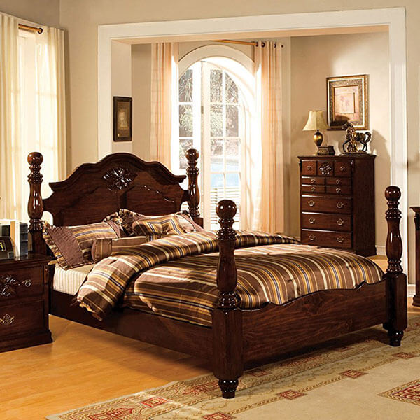 Furniture of America Scarlette Classic Four Poster Bed