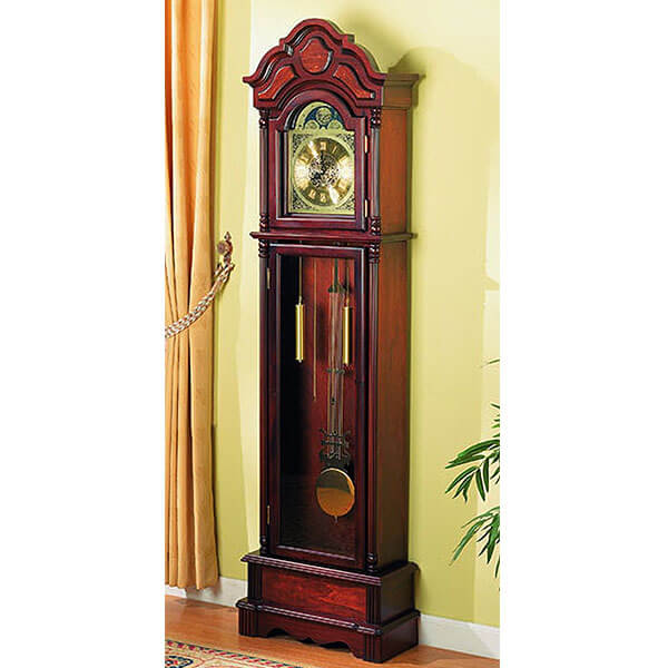 Coaster Home Furnishings Traditional Grandfather Clock, Cherry