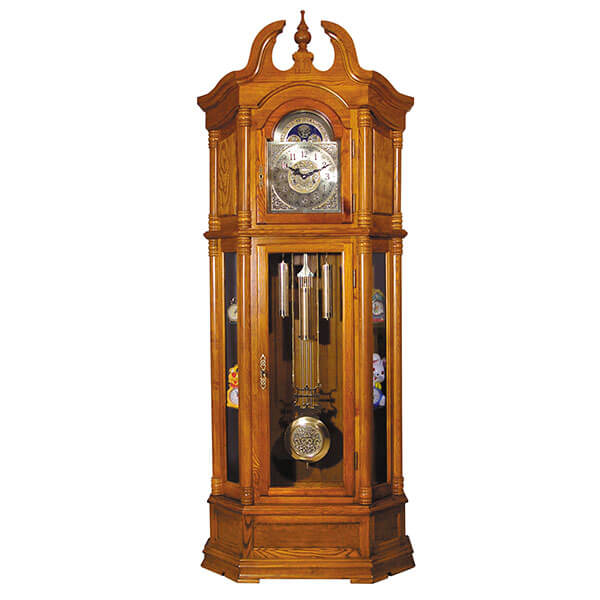 ACME Rissa Grandfather Clock, Oak Finish