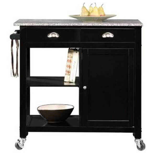 Better Homes and Gardens Black/Granite Kitchen Cart
