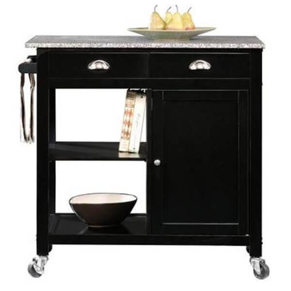 Better Homes and Gardens Black/Granite Kitchen Cart