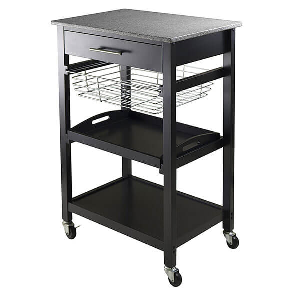 Winsome Julia Granite Utility Cart
