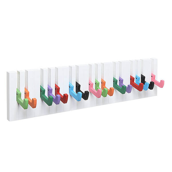 Decorative Multicolor Piano Design Wall Mounted Coat Rack