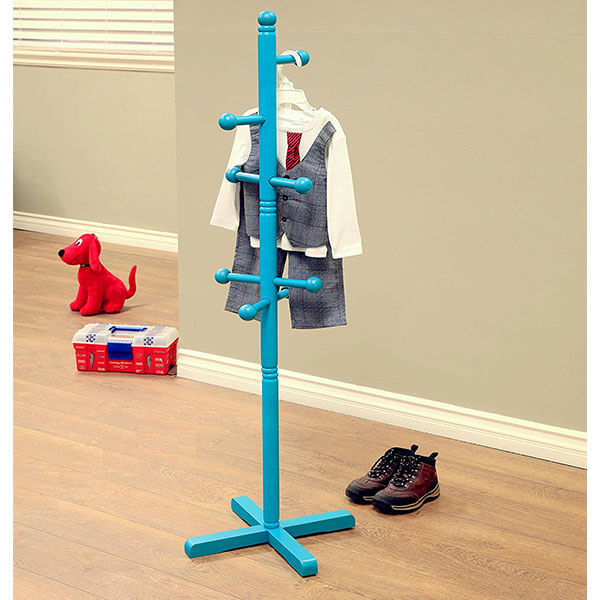 Frenchi Home Furnishing Kid's Coat Rack, Blue