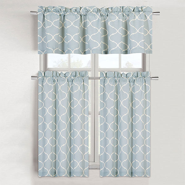 Maison Shabby Trellis Cotton Blend Kitchen Curtain Set