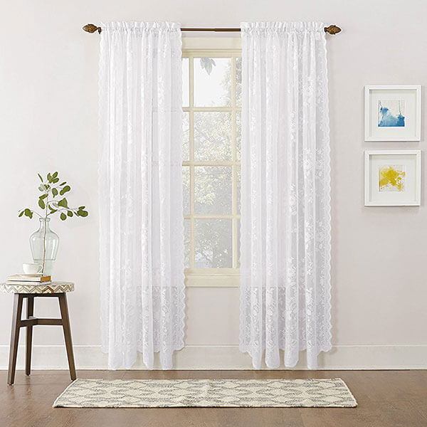 No. 918 Alison Floral Lace Curtain Panel