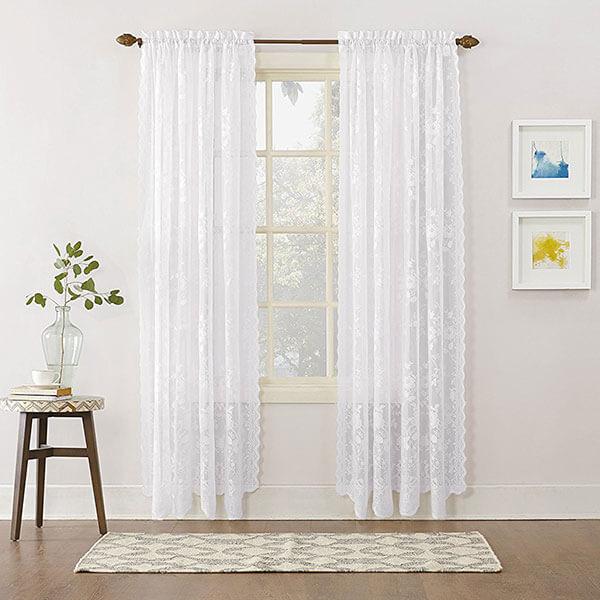 No. 918 Alison Floral Lace Curtain Panel