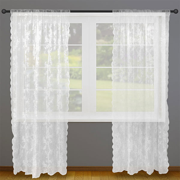 Home Essentials Lace Window Curtains