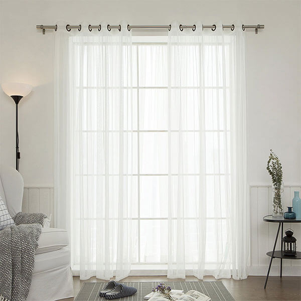 Best Home Fashion Tulle Sheer Lace Curtains