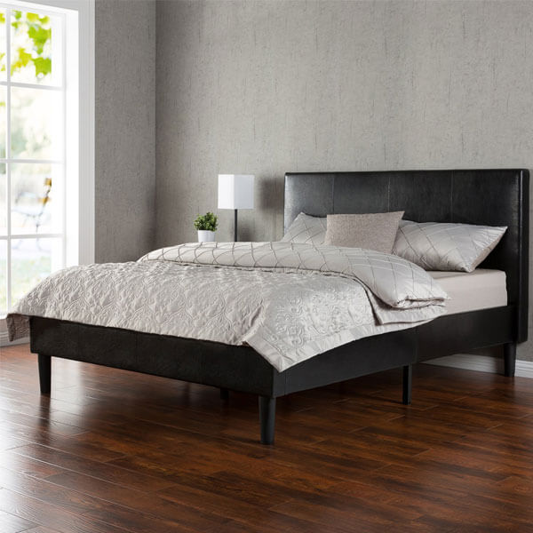 Zinus Deluxe Faux Leather Bed Frame