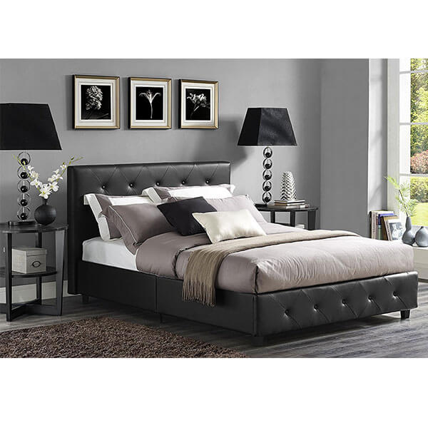 DHP Dakota Faux Leather Upholstered Platform Bed
