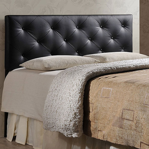 Baxton Studio Faux Leather Headboard, Black