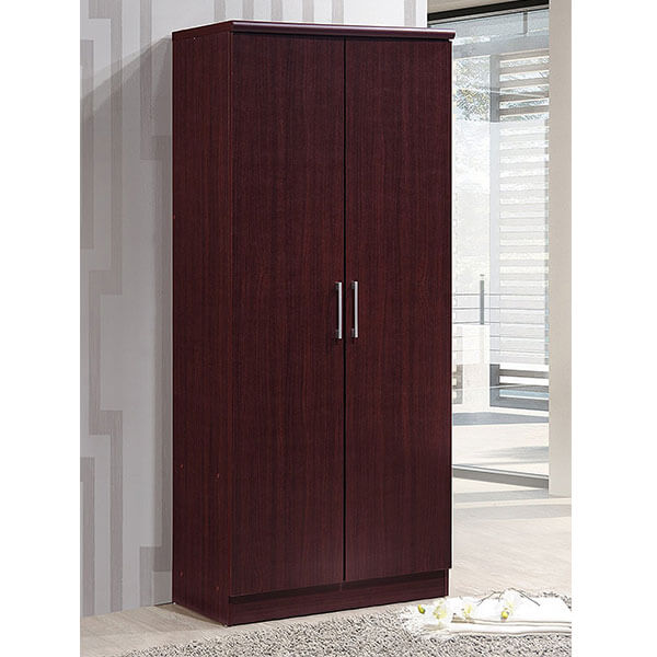 Hodedah 2 Door Wardrobe, Black