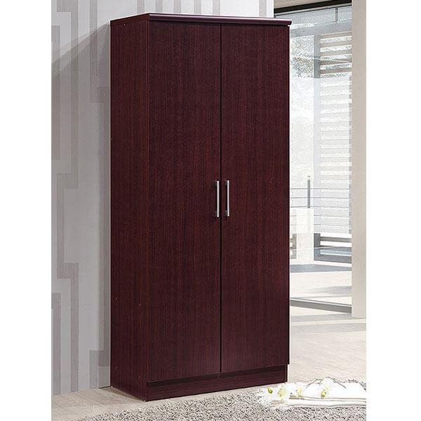 Hodedah 2 Door Wardrobe, Black