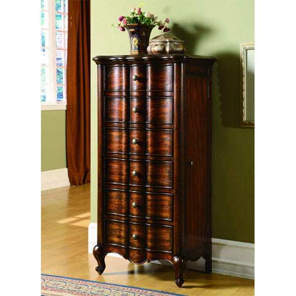 Hooker Furniture French Jewelry Armoire, Mahogany Veneer