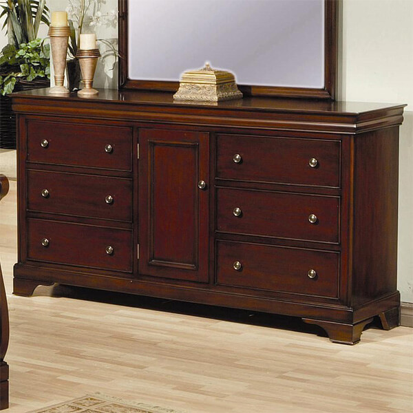 Coaster Home Furnishings Traditional Dresser, Mahogany