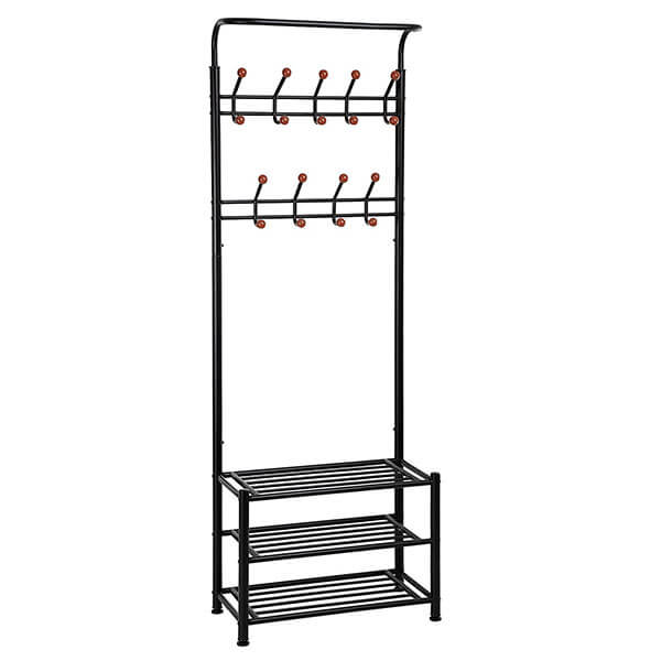 SONGMICS Heavy Duty Metal Coat Rack
