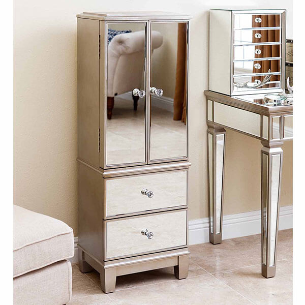 Abbyson Sophie Mirrored Jewelry Armoire