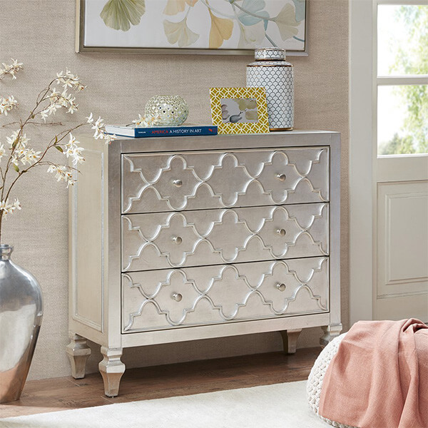 3-Drawer Chest Somerset, Antique Silver