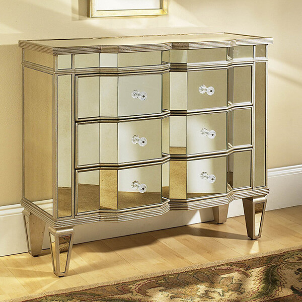 Pulaski Iona Accent Chest Marquis, Silver