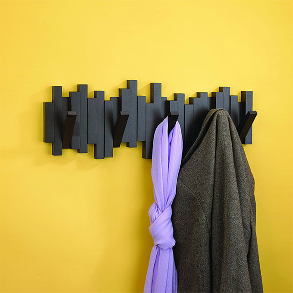 Umbra Sticks 5-Hook Wall Mounted Coat Rack