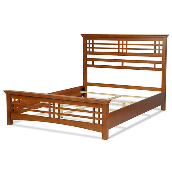 Avery Mission Style Oak Bed Frame