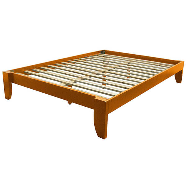 Copenhagen All Wood Medium Oak Bed Frame