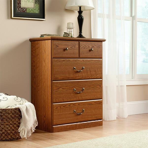 Sauder Orchard Hills 4-Drawer Chest, Carolina Oak Finish
