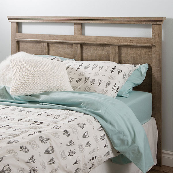 South Shore Versa Headboard, Weathered Oak