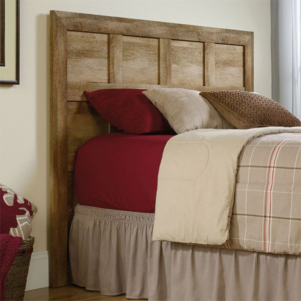 Sauder Dakota Pass Panel Headboard, Craftsman Oak